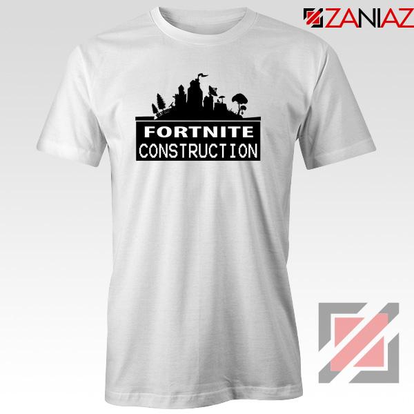 Fortnite Construction Company T-Shirt Parody Fortnite Tshirt Size S-3XL White