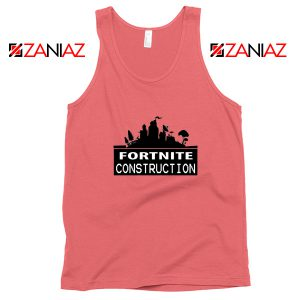 Fortnite Construction Company Tank Top Parody Fortnite Tank Top Coral