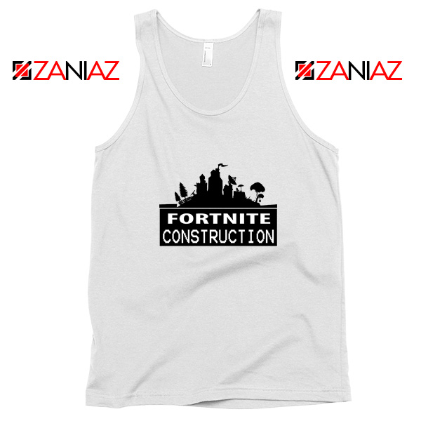 Fortnite Construction Company Tank Top Parody Fortnite Tank Top White