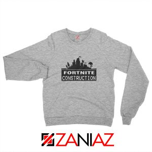 Fortnite Construction Sweatshirt Parody Fortnite Sweatshirt Size S-2XL Sport Grey