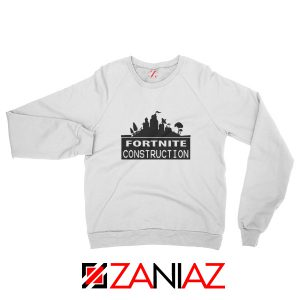 Fortnite Construction Sweatshirt Parody Fortnite Sweatshirt Size S-2XL White
