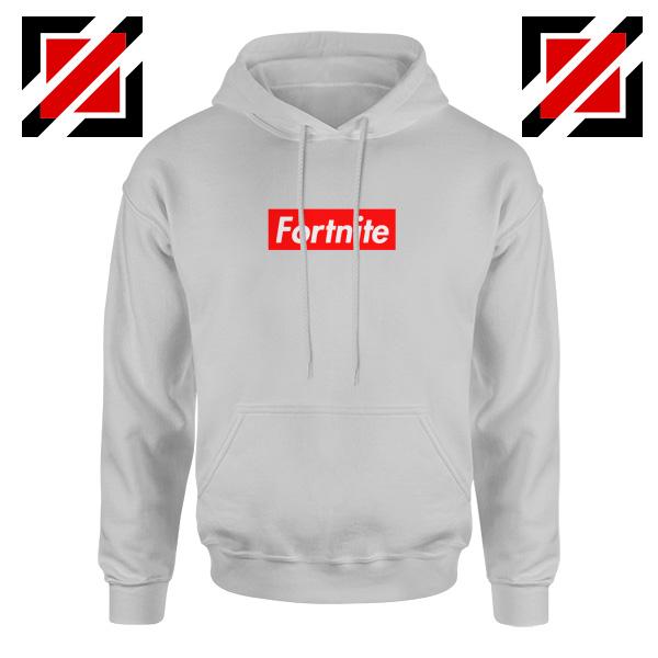 Fortnite Supreme Parody Hoodie Funny Parody Hoodie Size S-2XL Sport Grey
