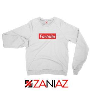 Fortnite Supreme Parody Sweatshirt Funny Sweatshirt Size S-2XL White