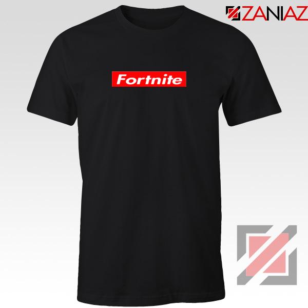 Fortnite Supreme Parody T-shirt Funny Parody Tee Shirt Size S-3XL Black