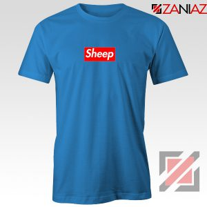 Funny Sheep T-shirt Supreme Parody Best T-shirt Size S-3XL Blue