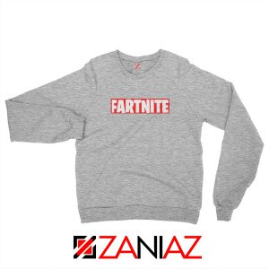 Game Fortnite Sweatshirt Funny Fartnite Sweatshirt Size S-2XL Sport Grey