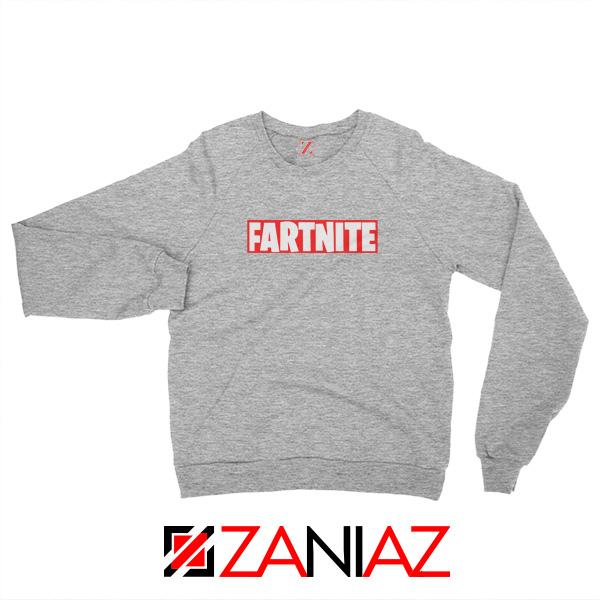 Game Fortnite Sweatshirt Funny Fartnite Sweatshirt Size S-2XL Sport Grey