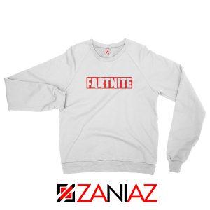 Game Fortnite Sweatshirt Funny Fartnite Sweatshirt Size S-2XL White