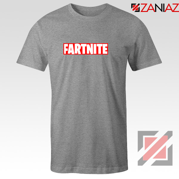 Game Fortnite Tee Shirt Funny Fartnite Best T-shirt Size S-3XL Sport Grey