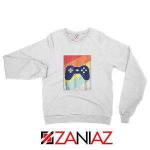 Gaming Best Sweatshirt Retro Video Game Women Sweatshirt Size S-2XL White