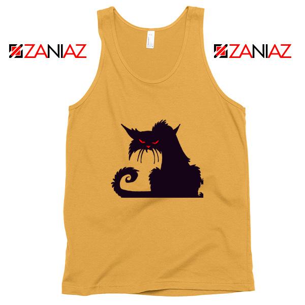 Halloween Cat Design Tank Top Animal Lover Tank Top Size S-3XL Sunshine