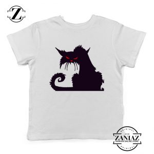 Halloween Cat Kids T-Shirt Animal Lover Youth Shirt Size S-XL White