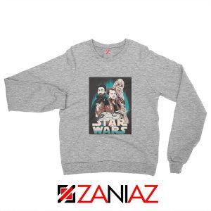 Han Solo Movie Sweatshirt Star Wars The Hero Sweatshirt Size S-2XL Sport Grey