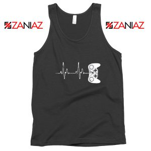Heartbeat Gamer Tank Top Video Game Lover Gift Tank Top Size S-3XL Black