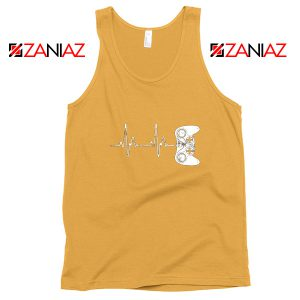 Heartbeat Gamer Tank Top Video Game Lover Gift Tank Top Size S-3XL Sunshine