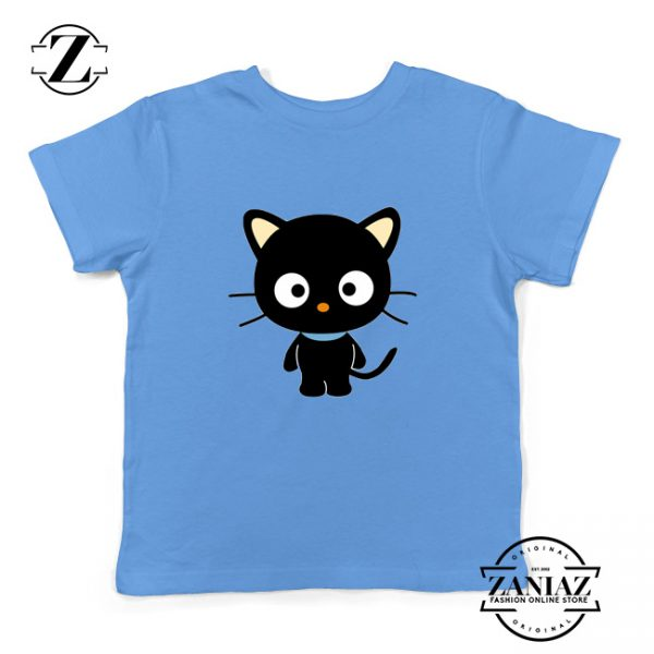 Hello Kitty Youth Shirt Funny Cat Lover Kids Tshirt Size S-XL Light Blue