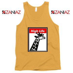High Life Giraffe Tank Top Funny Animals Women Tank Top Size S-3XL Sunshine