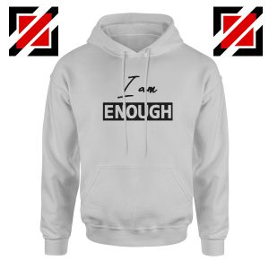 I Am Enough Best Hoodie Women's Quote Hoodie Size S-2XL Sport Grey