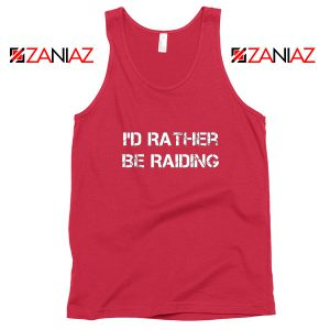 I'd Rather Gaming Tank Top Video Game Lover Tank Top Size S-3XL Red