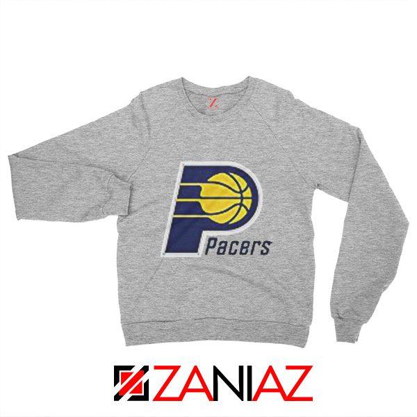 Indiana Pacers Logo Sweatshirt Funny NBA Best Sweatshirt Size S-2XL Sport Grey