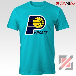 Indiana Pacers Logo T Shirt Funny NBA Best Tee Shirt Size S-3XL Light Blue