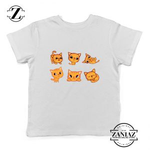 Kitten Cute Kids Shirt Cat Lover Kids Tee Shirt Size S-XL White