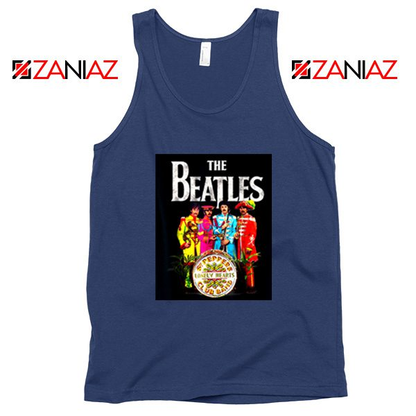 Lonely Hearts Band Tank Top The Beatles Tank Top Size S-3XL Navy Blue