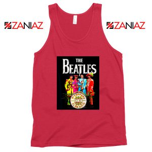 Lonely Hearts Band Tank Top The Beatles Tank Top Size S-3XL Red