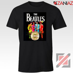 Lonely Hearts Band Tee Shirt The Beatles T-Shirt Size S-3XL Black