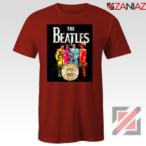 Lonely Hearts Band Tee Shirt The Beatles T-Shirt Size S-3XL Red