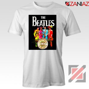 Lonely Hearts Band Tee Shirt The Beatles T-Shirt Size S-3XL White