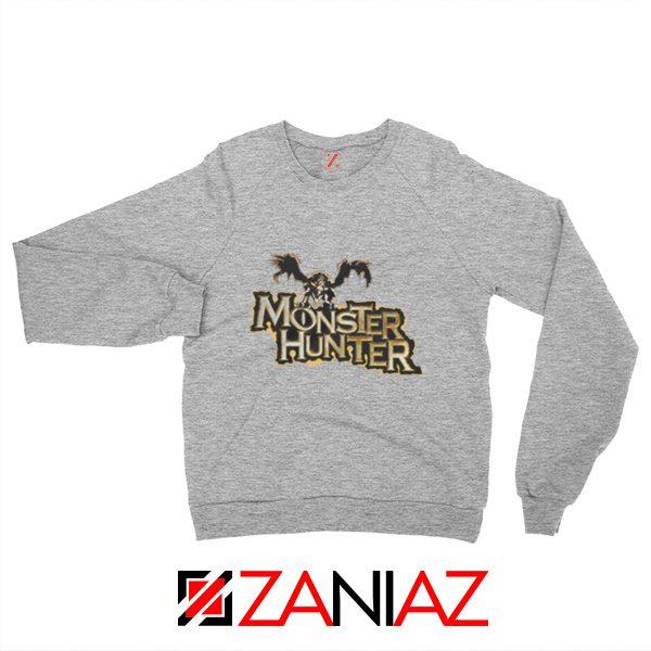 Monster Hunter Sweatshirt Designs Video Games Sweatshirt Size S-2XL Sport Grey