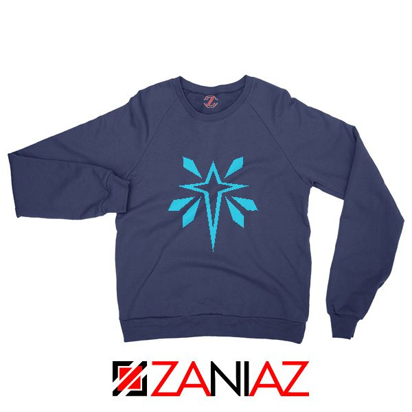 Monster Hunter World Logo Sweatshirt Video Games Gifts Sweatshirt Navy Blue