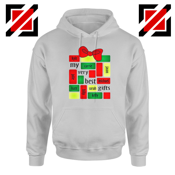 My Very Best Gifts Personalized Hoodie Christmas Hoodie Size S-2XL Sport Grey