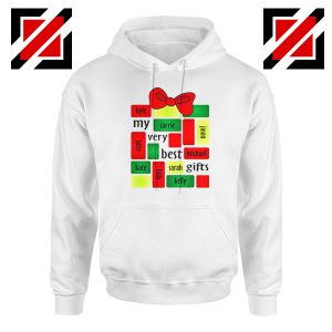 My Very Best Gifts Personalized Hoodie Christmas Hoodie Size S-2XL White