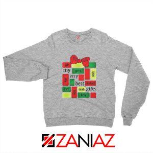 My Very Best Gifts Personalized Sweatshirt Christmas Sweatshirt Sport Grey