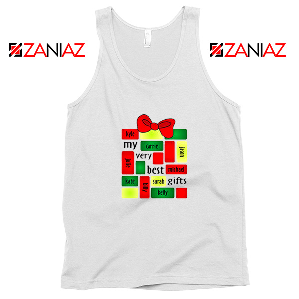 My Very Best Gifts Personalized Tank Top Christmas Tank Top Size S-3XL White