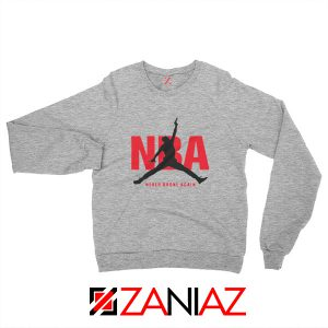 Never Broke Again NBA Sweatshirt Funny NBA Sweatshirt Size S-2XL Sport Grey