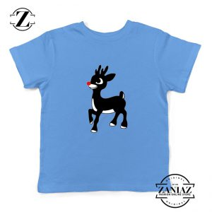 Red Nose Reindeer Youth Tshirt Ugly Christmas Kids T Shirt Blue