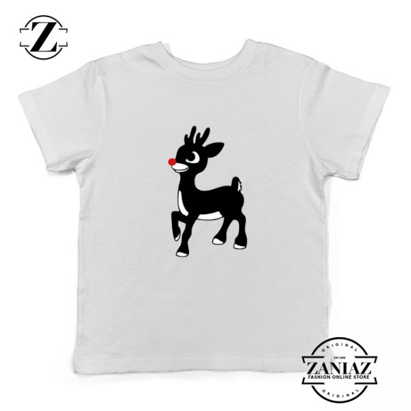 Red Nose Reindeer Youth Tshirt Ugly Christmas Kids T Shirt White