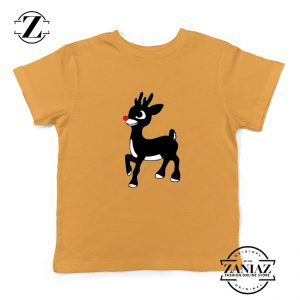 Red Nose Reindeer Youth Tshirt Ugly Christmas Kids T Shirt Yellow