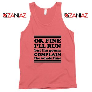 Run Complain Mens Gym Tank Top Workout Tank Top Gym Gifts Coral