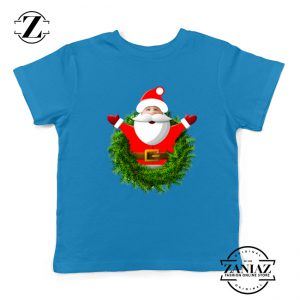 Santa Claws Gift Kids T-Shirt Christmas Kids Shirt Size S-XL Blue