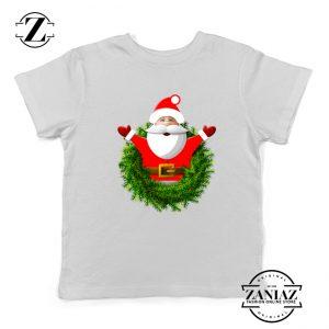 Santa Claws Gift Kids T-Shirt Christmas Kids Shirt Size S-XL White