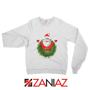 Santa Claws Gift Sweatshirt Christmas Gift Sweatshirt Size S-2XL White