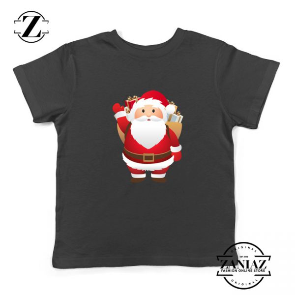 Santa Claws Kids T-Shirt Funny Christmas Kids Shirt Size S-XL Black