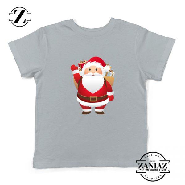 Santa Claws Kids T-Shirt Funny Christmas Kids Shirt Size S-XL Grey
