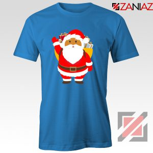 Santa Claws T-Shirt Funny Christmas Gift Tee Shirt Size S-3XL Blue