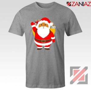 Santa Claws T-Shirt Funny Christmas Gift Tee Shirt Size S-3XL Sport Grey