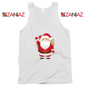 Santa Claws Tank Top Funny Christmas Gift Tank Top Size S-3XL White